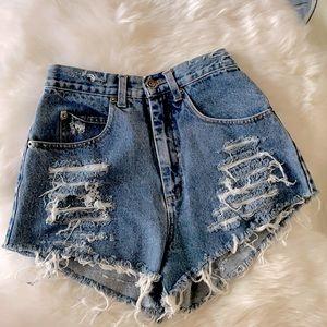 County Seat vintage ribbed shorts